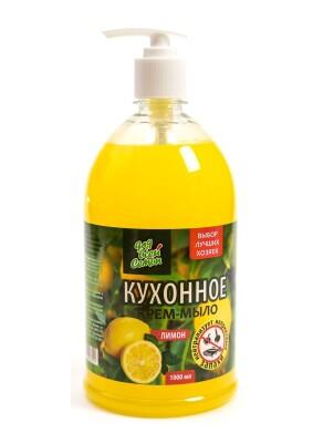 Для всей семьи крем-мыло Кухонное лимон, 1л