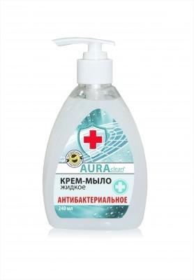 Антибактериальное Жидкое крем-мыло Аура 240 мл