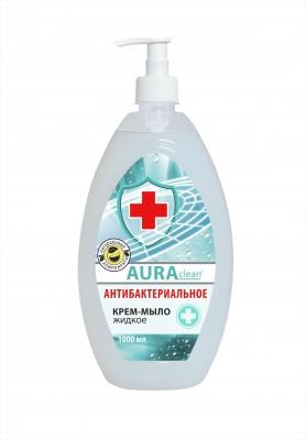 Крем-мыло жидкое «Аура» Антибактериальное, 1л