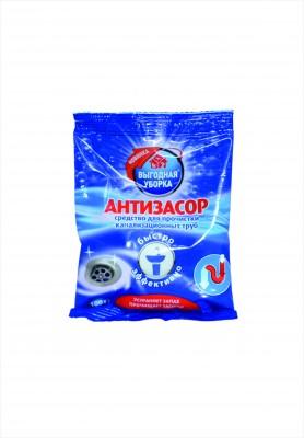 Средство для прочистки канализационных труб «Антизасор» Выгодная уборка, 100 гр